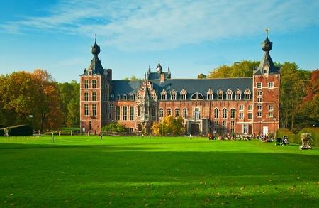 Arenberg Castle in the campus of the Catholic University of Leuven, Belgium