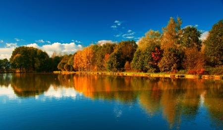 Nice autumnal scene  Stock Photo