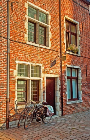 leuven: bicycle in Leuven, Belgium Editorial