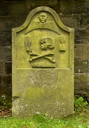 Ancient grave stones, Dunkeld, Scotland  photo