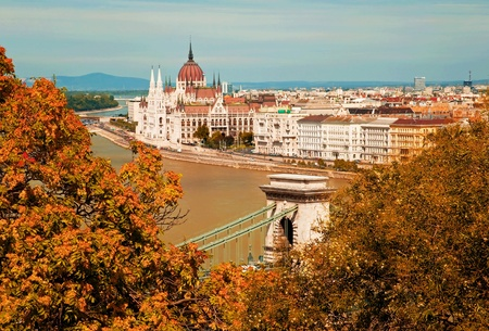 Budapest city in autumn  photo