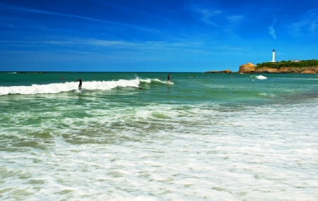 The beach in Biarritz France