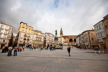 vitoria: Old town in Spain  Editorial