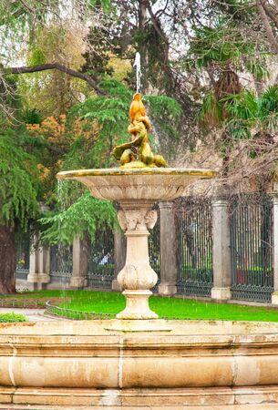Nice fountain in Madrid, Spain  photo