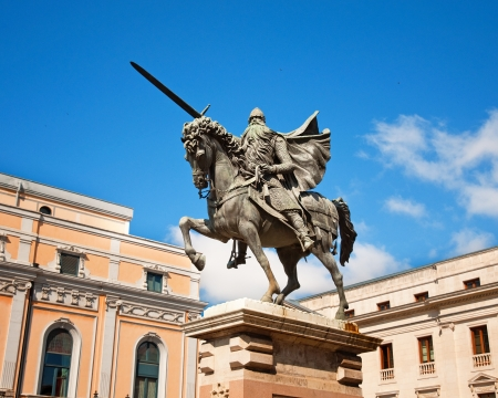 El Cid in Burgos  Stock Photo