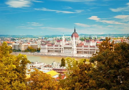 Budapest city in autumn