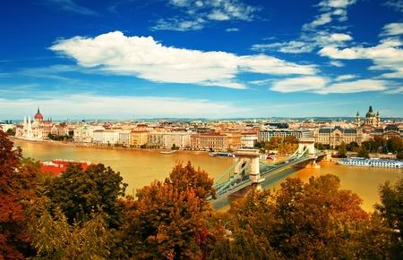Budapest city in autumn