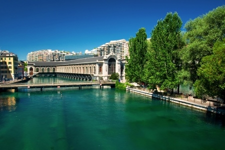 Stad Genève, Zwitserland Stockfoto