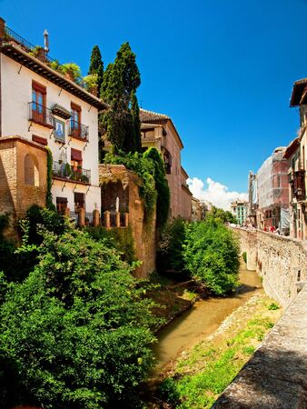Old town of the famous city Granada in Spain