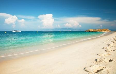 Nice beach at summer  Stock Photo