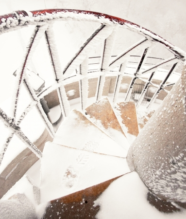 Stairs in winter with snow  Stock Photo - 17134816