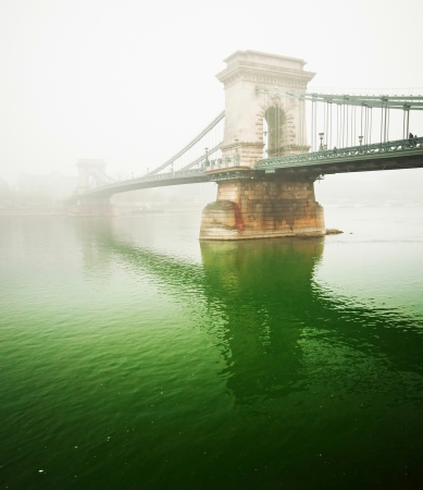 The famous Chain Bridge, Budapest