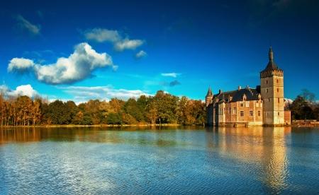 mote: Nice medieval castle in Belgium
