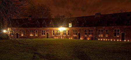 leuven: Great Beguinage at night Leuven, Louvain, Belgium