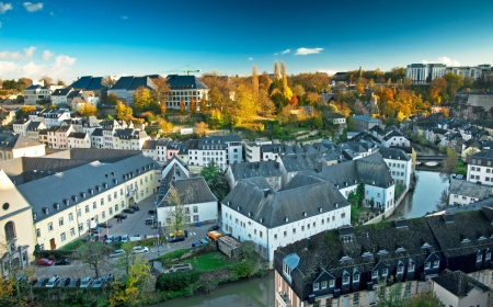View on the old town of Luxembourg photo