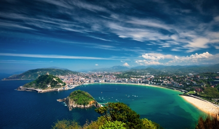 natural landmark: San Sebastian, Spain Stock Photo