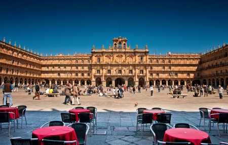 mayor: Plaza Mayor of Salamanca, Spain