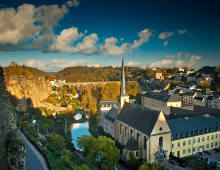 View on the old town of Luxembourg