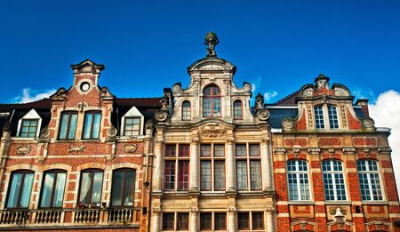 leuven: Nice houses in the old town of the city