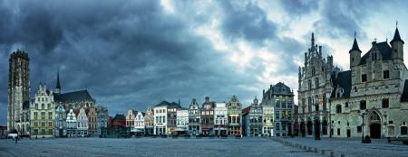 Nice Belgian houses in Mechelen Editorial