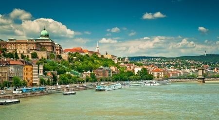 Nice houses in Budapest city