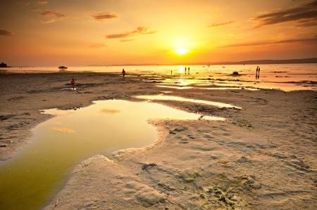 Very nice sunset at lake Balaton, Hungary Stock Photo