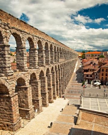 segovia: Segovia Aqueduct in Segovia, Spain
