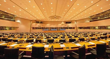 Interior of the European Parliament