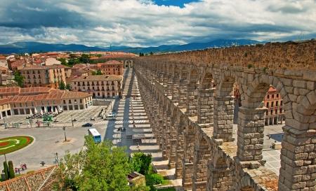 Segovia Aqueduct in Segovia, Spain