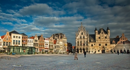 View of the Grote Markt, Mechelen, Belgium  Editorial