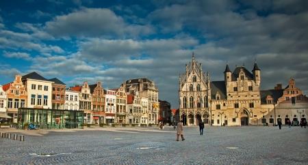 View of the Grote Markt, Mechelen, Belgium  Editorial