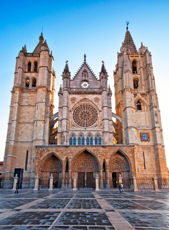 Gothic cathedral of Leon, Spain  Imagens