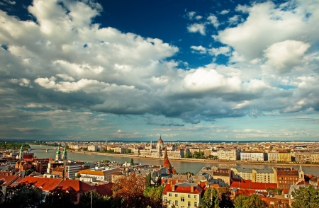 Nice view on the city of Budapest, Hungary