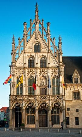 inhabitants: View of the Grote Markt, Mechelen, Belgium  Stock Photo