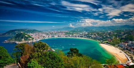 beaches of spain: San Sebastian, Spain Stock Photo