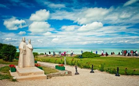 Statue of Andrew I and Anastasia in Tihany, Balaton, Hungary
