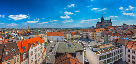 Panoramic view on Brno, Czech Republic