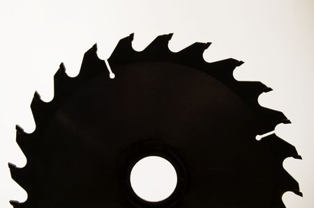 sharply: Circular saw blade isolated over a white background