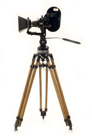 camara de cine: Profesional de la pel�cula de 35mm c�mara y tr�pode. Foto de archivo