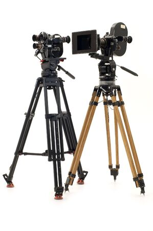 Two professional 35mm of the film-chamber on a white background.