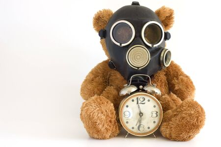 The Nursery toy in gas mask.