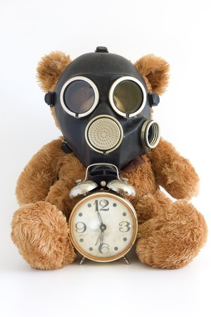 radiation pollution: The Nursery toy in gas mask.