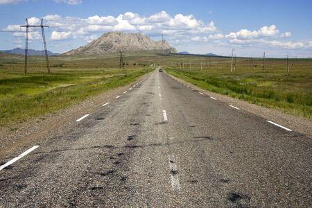 Empty highway. Stock Photo