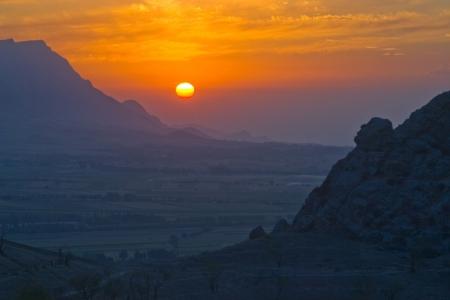 Evening in mountains of Kyrgyzstan  September