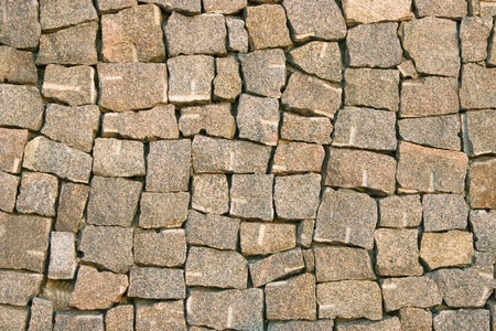 Wall from a natural stone.