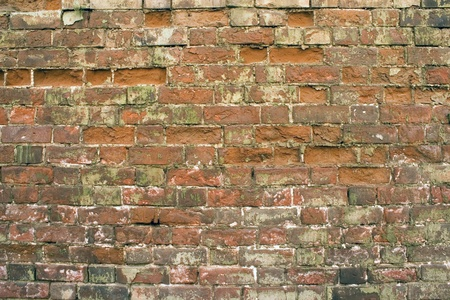 Old wall from a red brick  Stock Photo