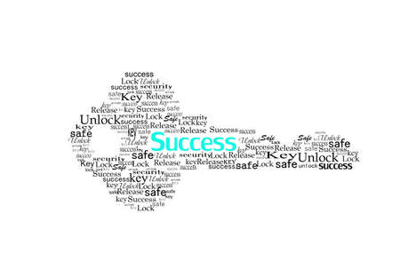 key to success make by word  photo