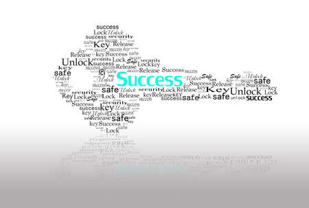 unblock: key for success make with word