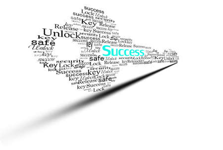 unbar: key for success make with word Stock Photo