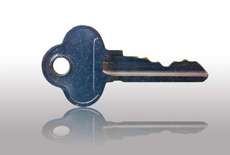unbar: silver key isolated on whited background